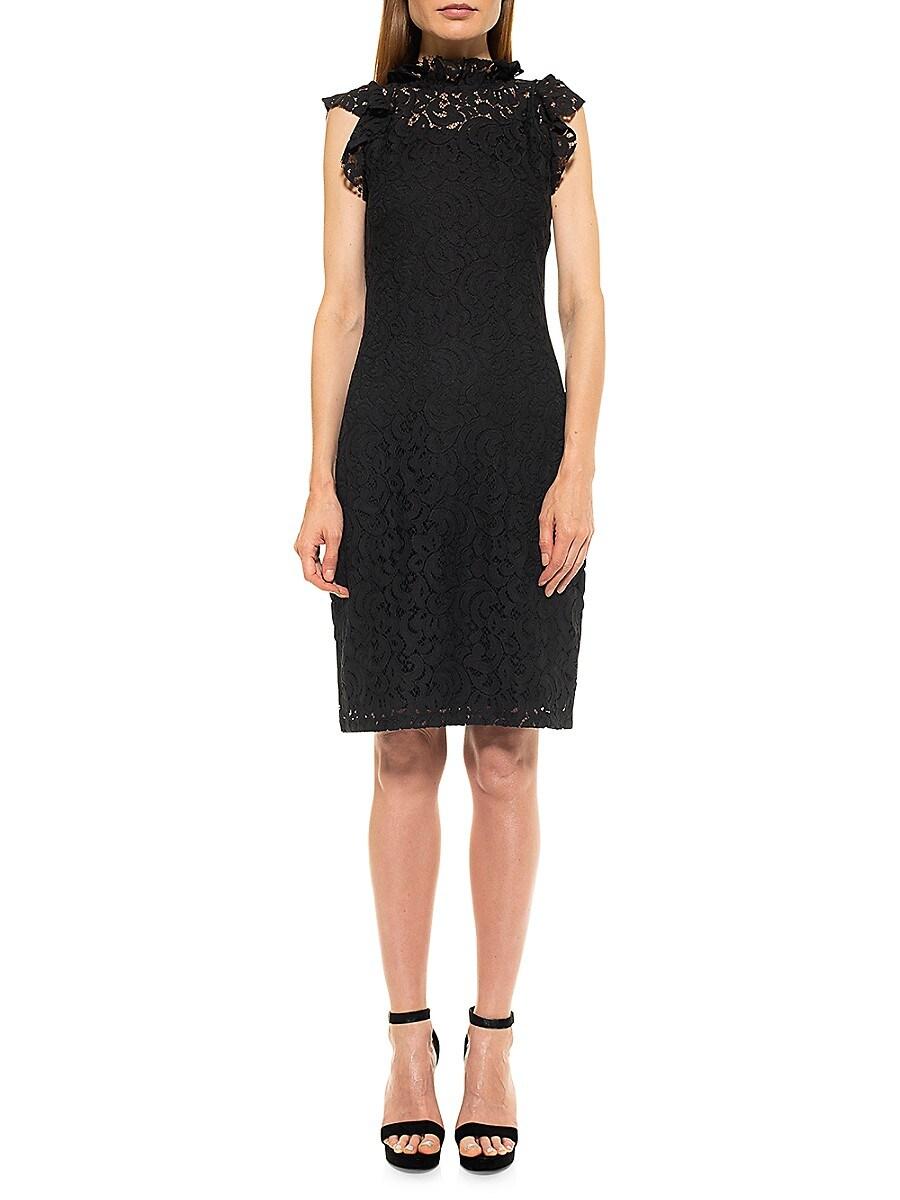 Women's Kendall Lace Cap-Sleeve Sheath Dress