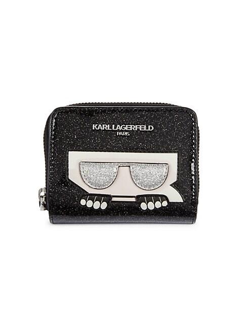Karl Lagerfeld GLITTER PVC WALLET