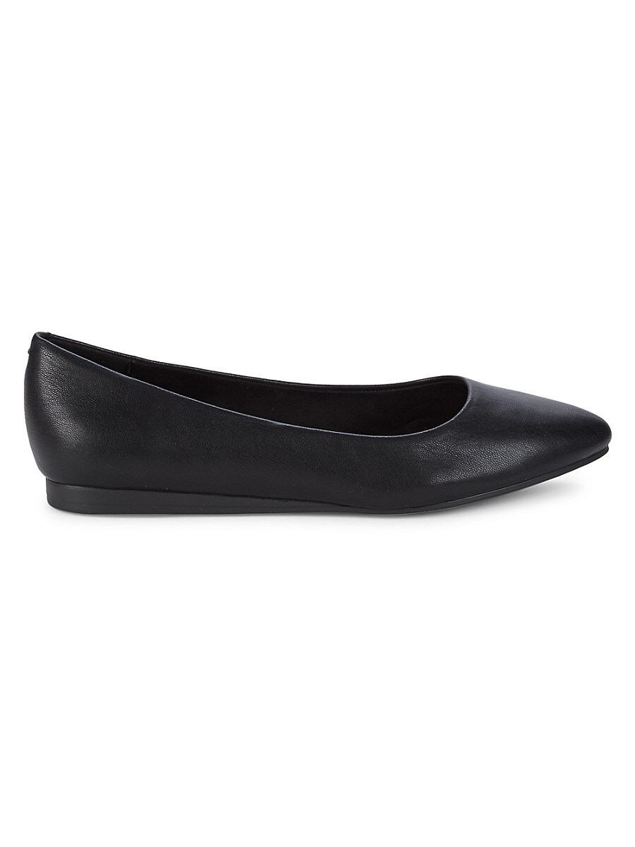 Women's Point-Toe Faux Leather Ballet Flats