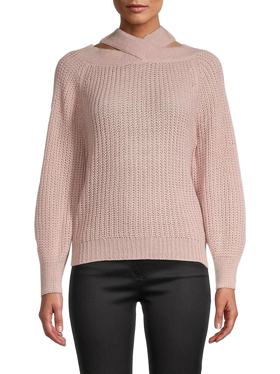 Women's Bubble-Sleeve Sweater