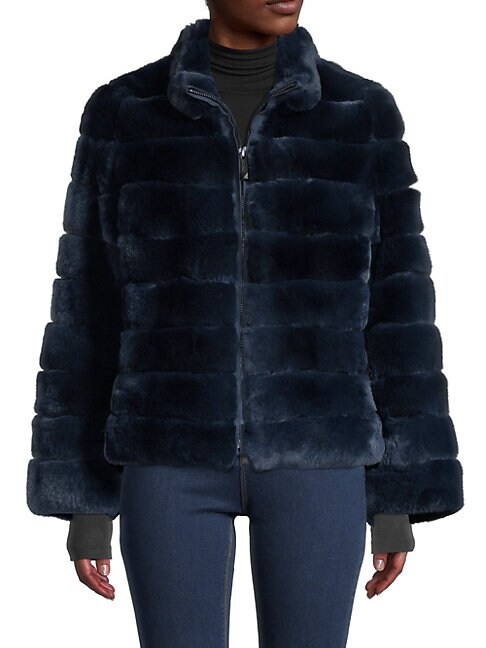 Belle Fare QUILTED RABBIT FUR JACKET