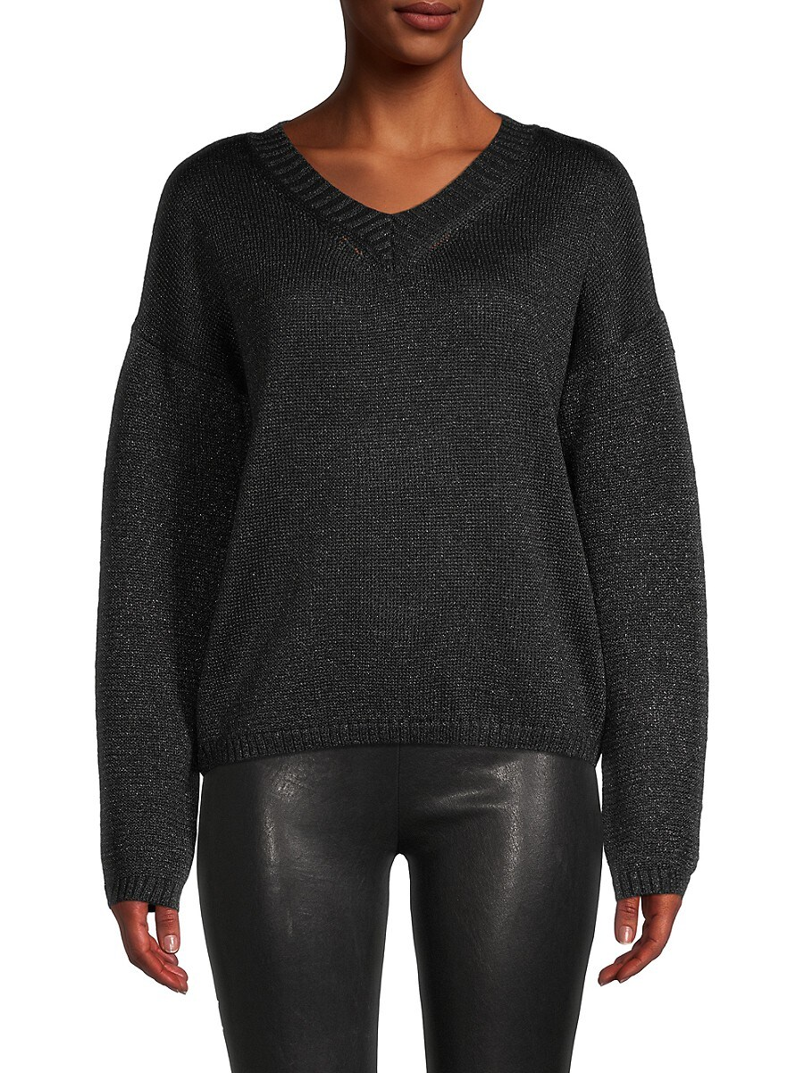 Brave + True Women's Metallic V-Neck Sweater