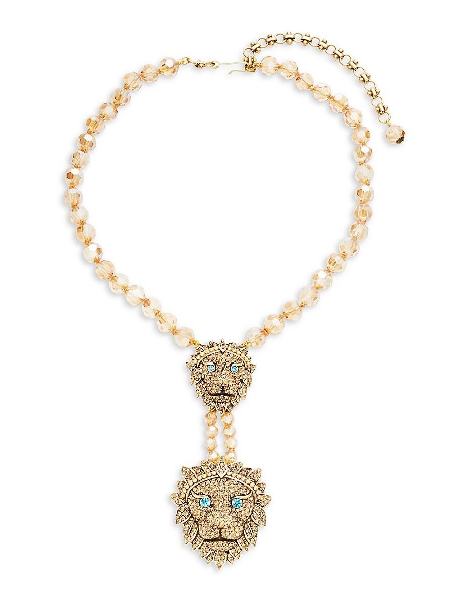 Women's Double Lion Statement Necklace