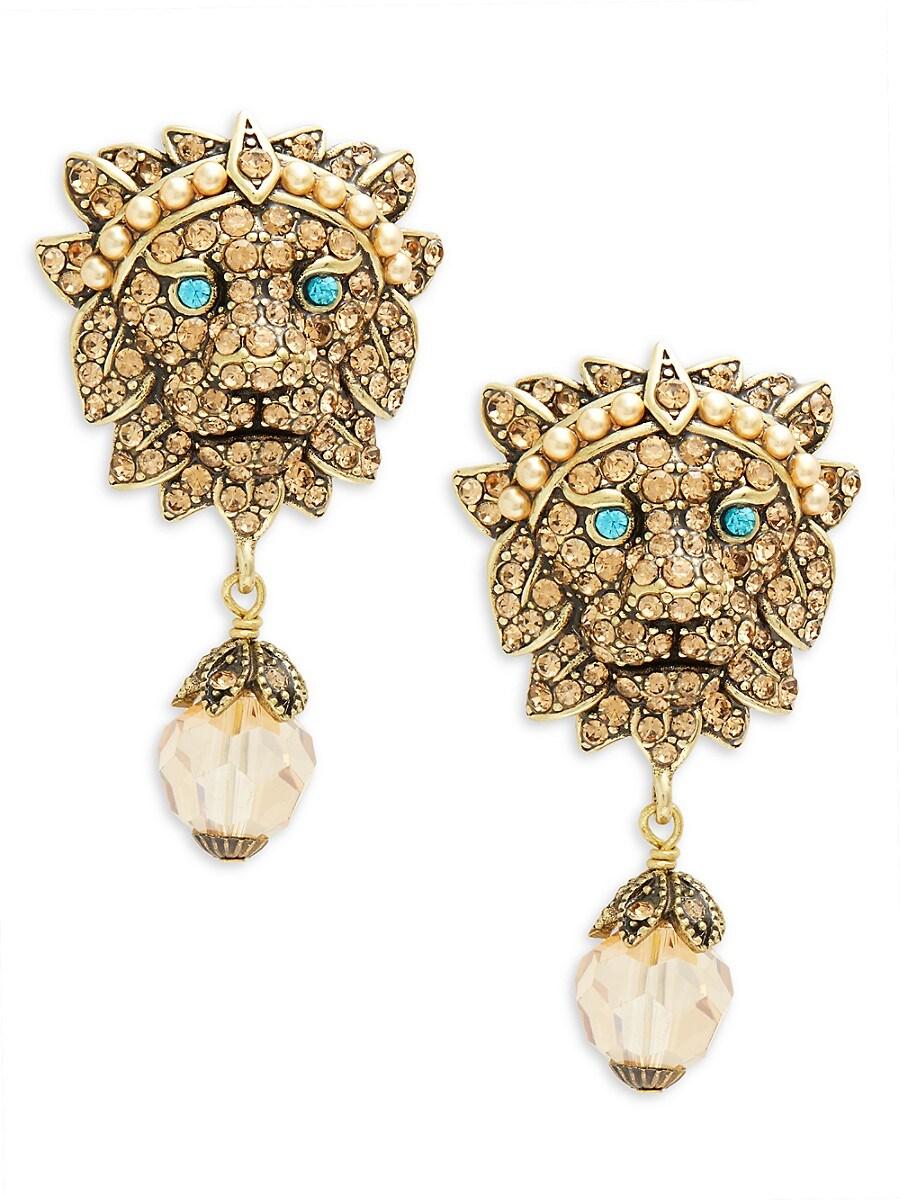 Women's Lion Drop Earrings