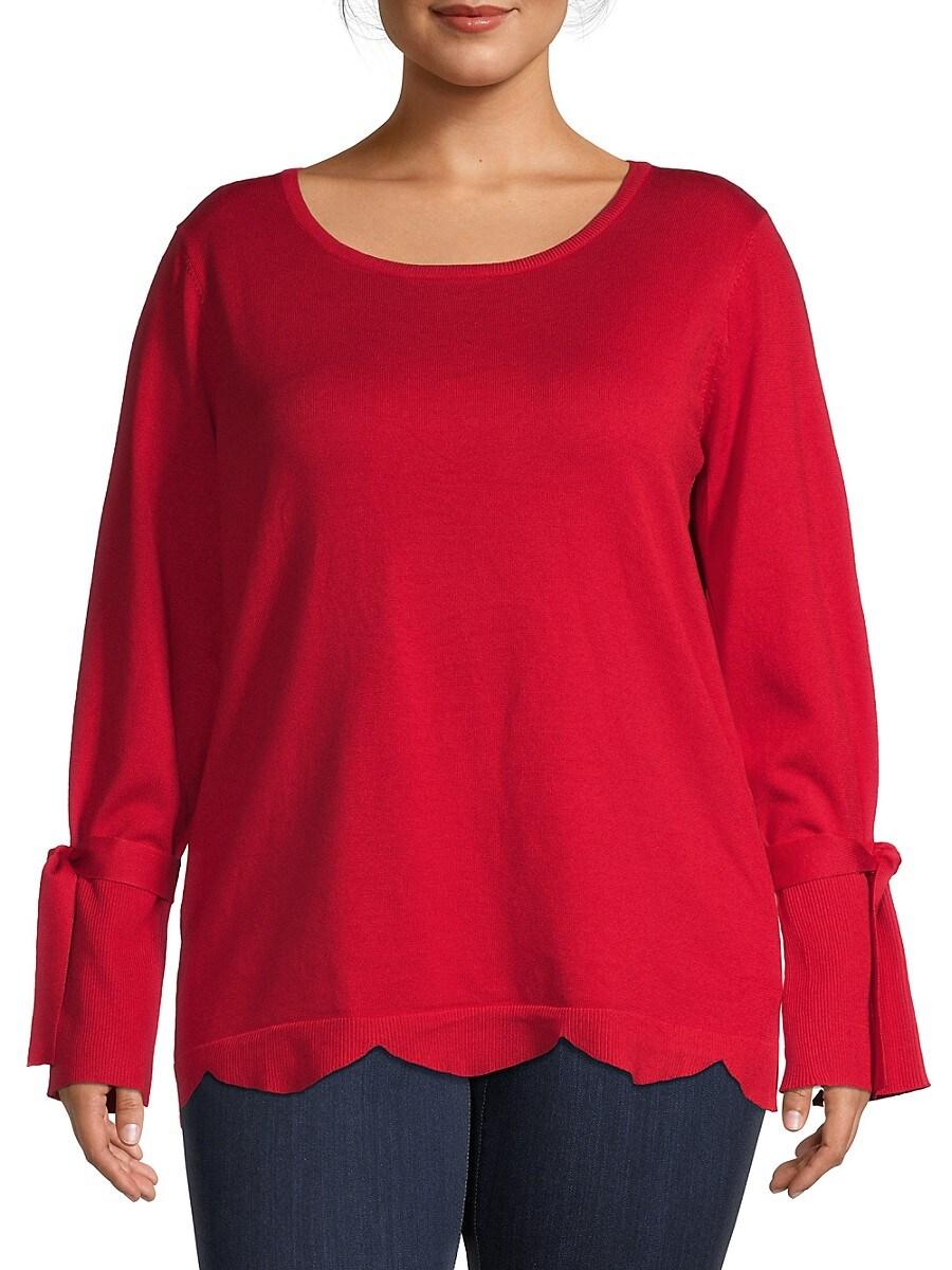 Women's Scalloped Sweater