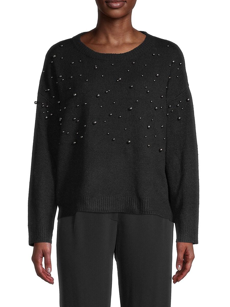 Women's Embellished Long-Sleeve Sweater