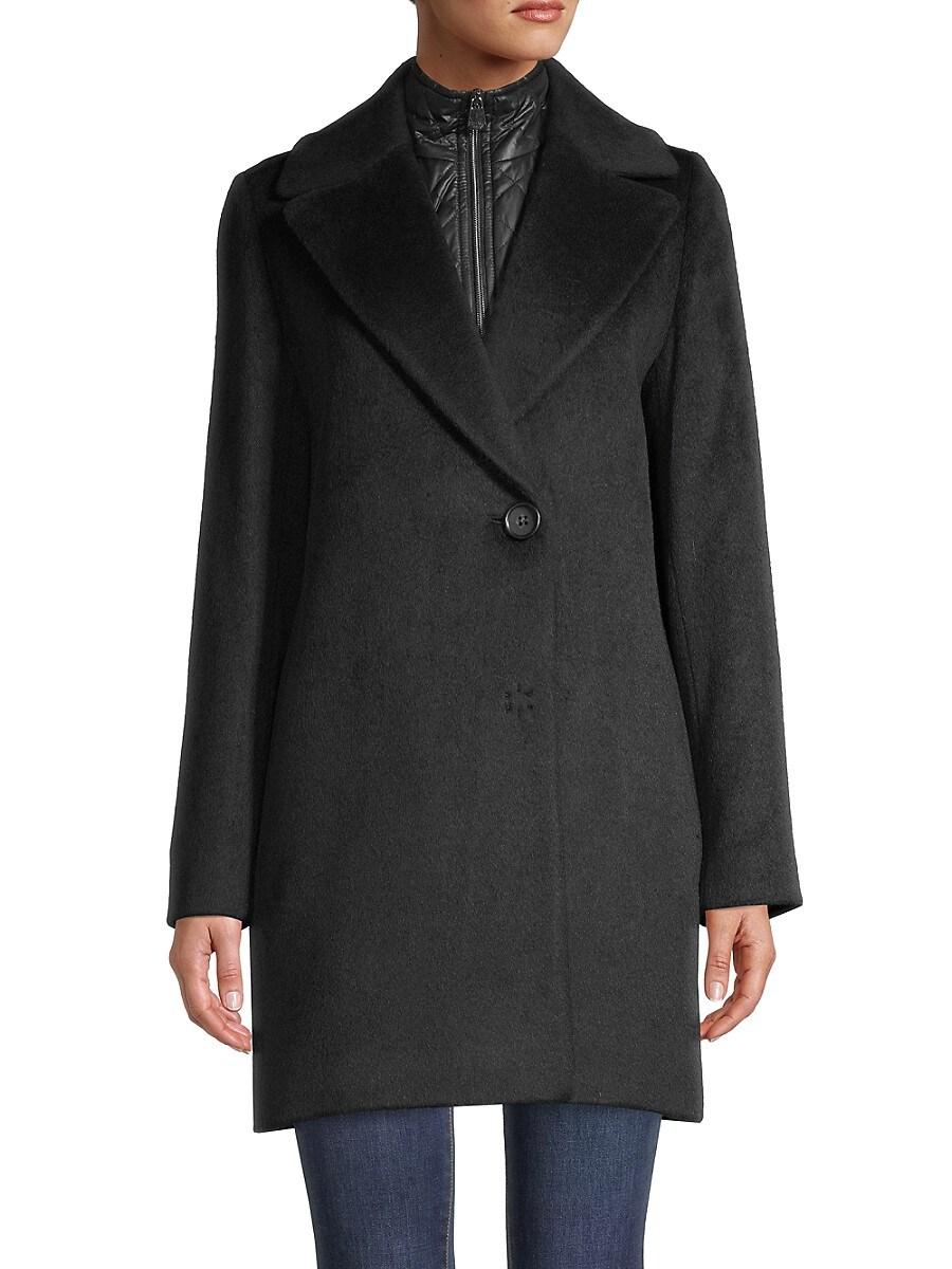 Women's Solid-Color Coat & Removable Bib