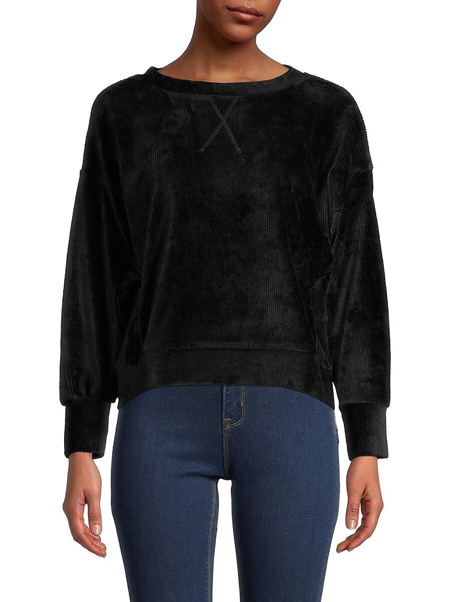 Heroes & Dreamers Women's Ribbed Sweatshirt - Black - Size XL