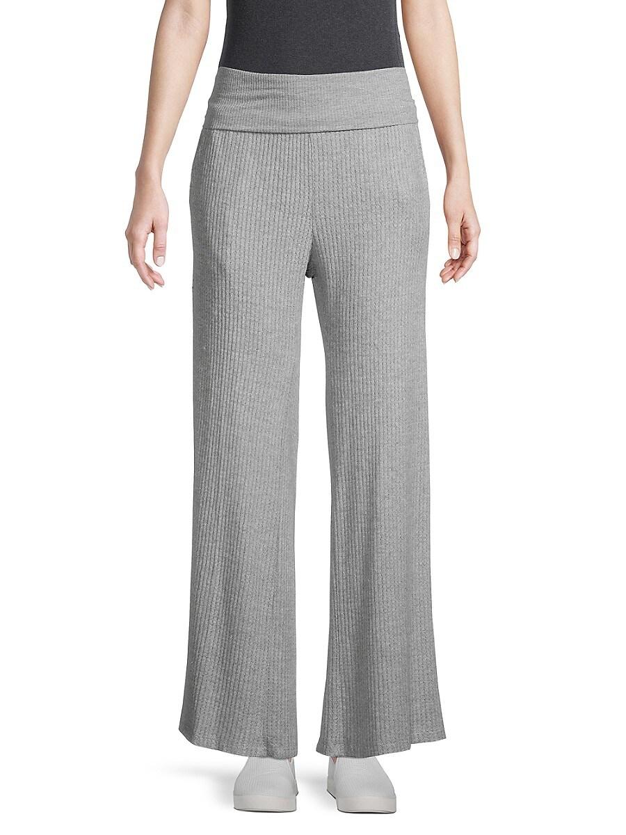 Women's Ribbed Wide-Leg Pants