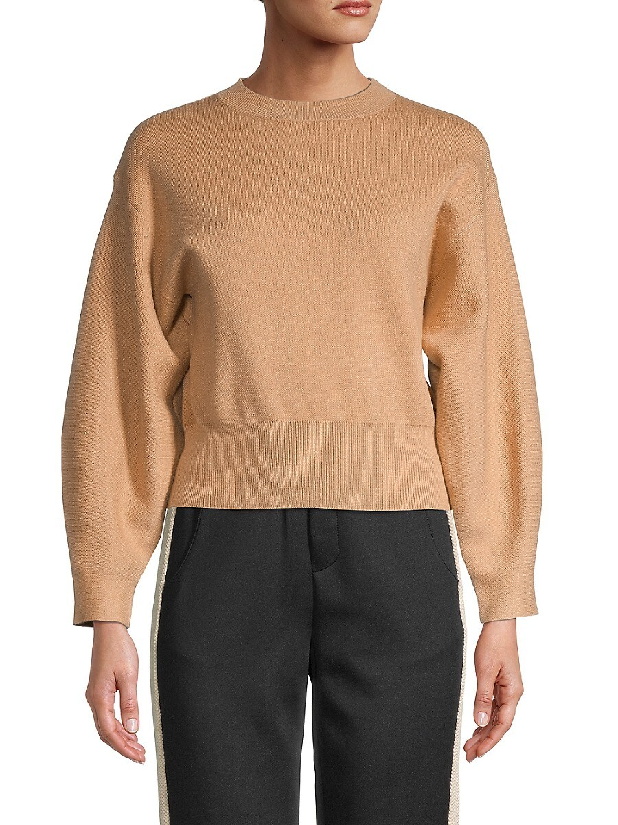 Women's Crewneck Long-Sleeve Sweater