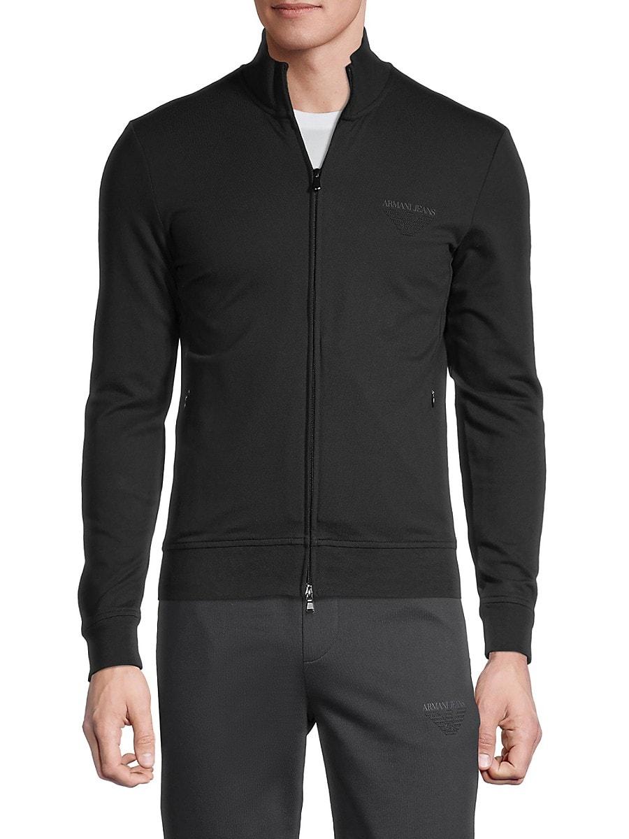 Men's Embroidered-Logo Stretch-Cotton Sweatshirt