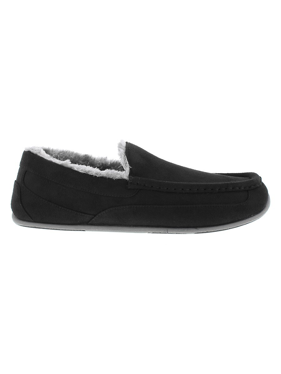 Men's Spun Deer Stag Faux-Shearling Moccasin Slippers