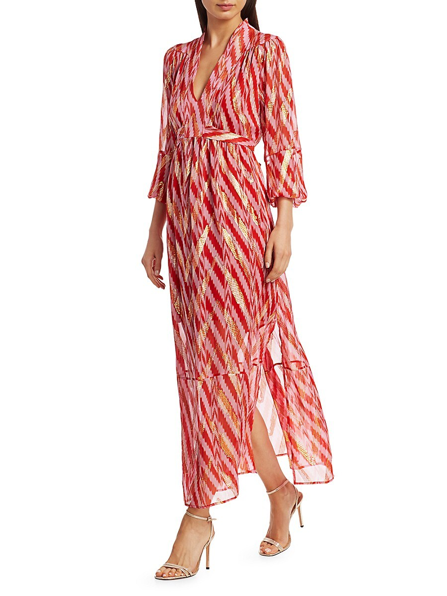 Starlight Ikat Silk-Blend Wrap Dress