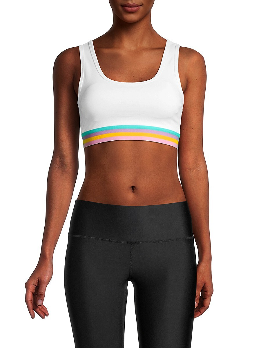 Women's Rainbow-Underband Sports Bra