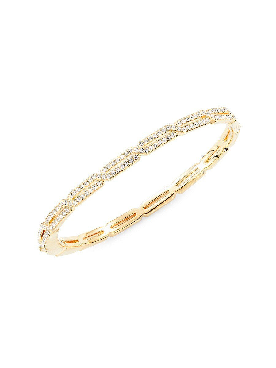 Women's Goldtone & Crystal Bangle Bracelet