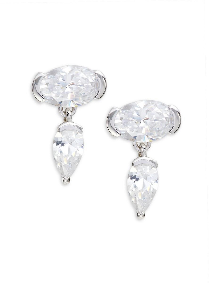 Women's Sterling Silver & Crystal Drop Earrings