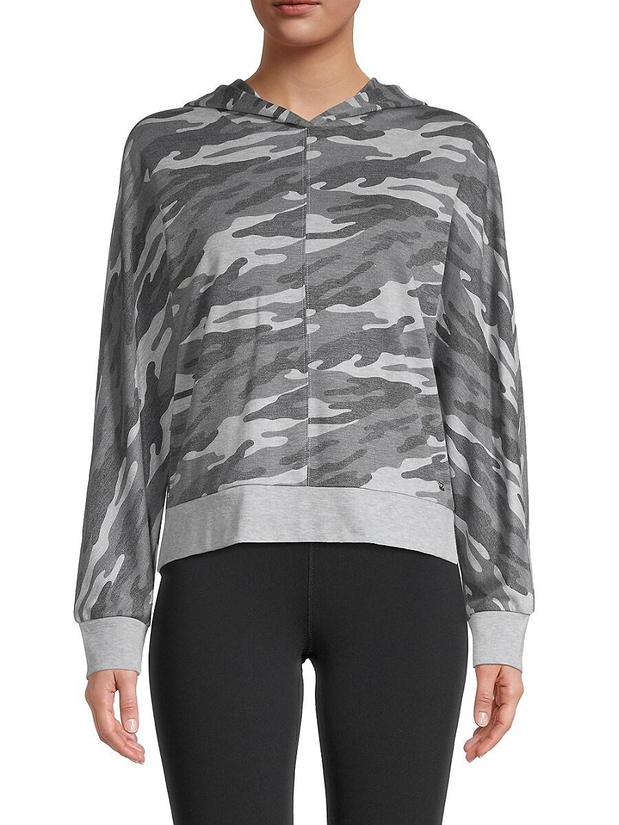 Women's Camo-Print Hooded Jacket