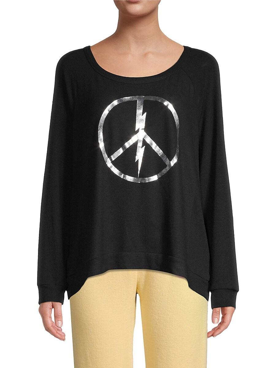 Women's Graphic High-Low Cotton-Blend Sweatshirt