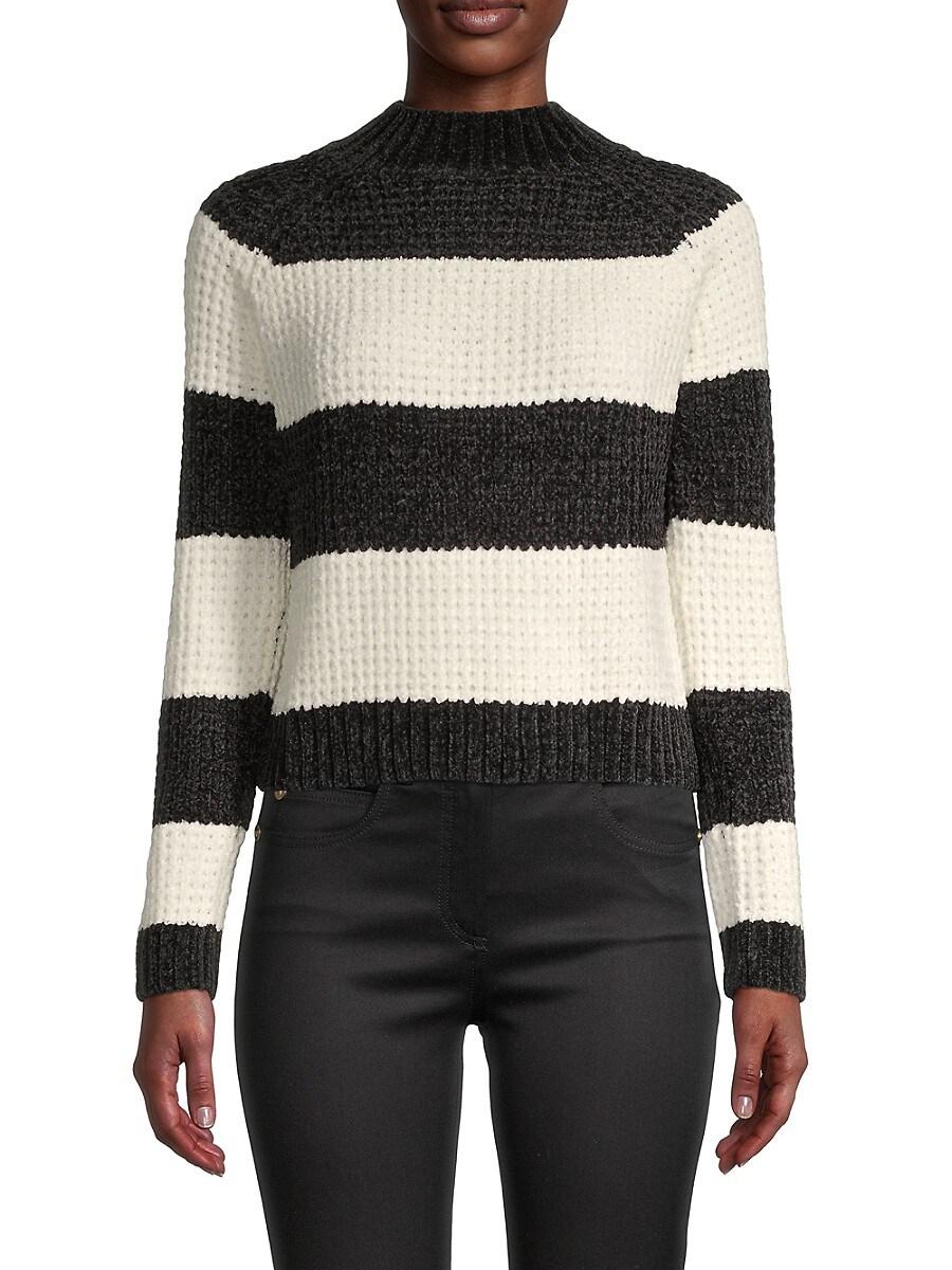 Women's Colorblock Funnel-Neck Sweater