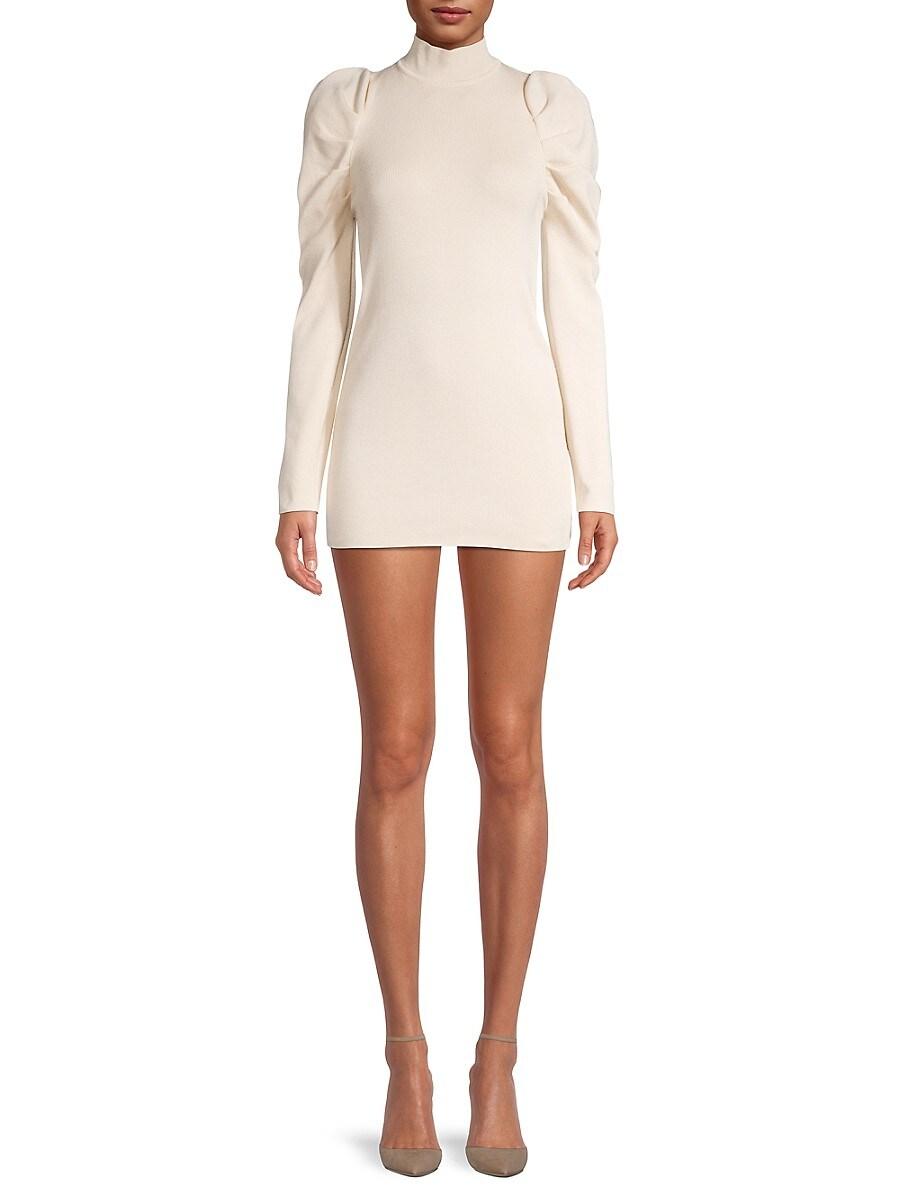 Women's Long Puffed-Sleeve Mini Dress