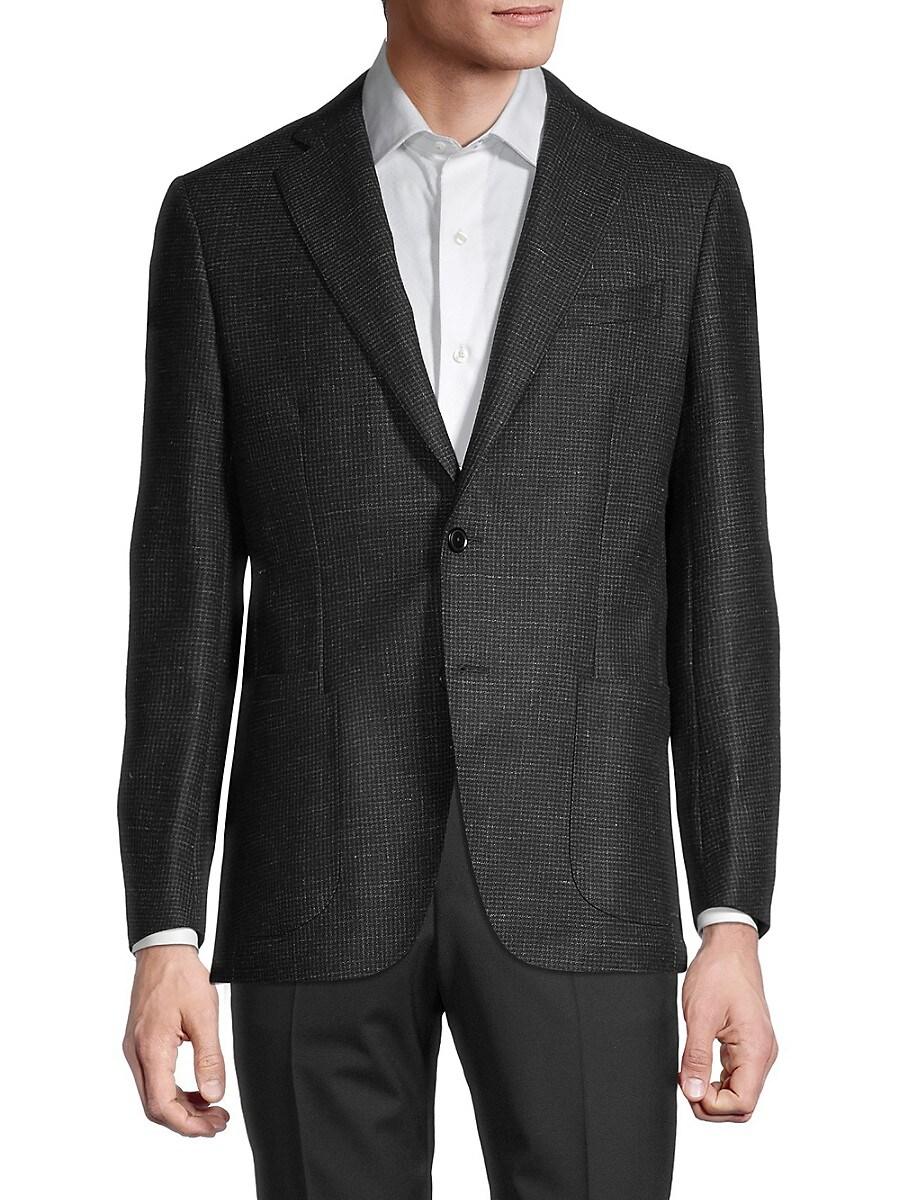 Men's Standard-Fit Textured Wool & Linen Sportcoat