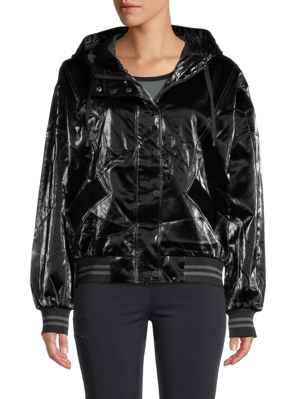 Blanc Noir Iridescent Faux Leather Jacket