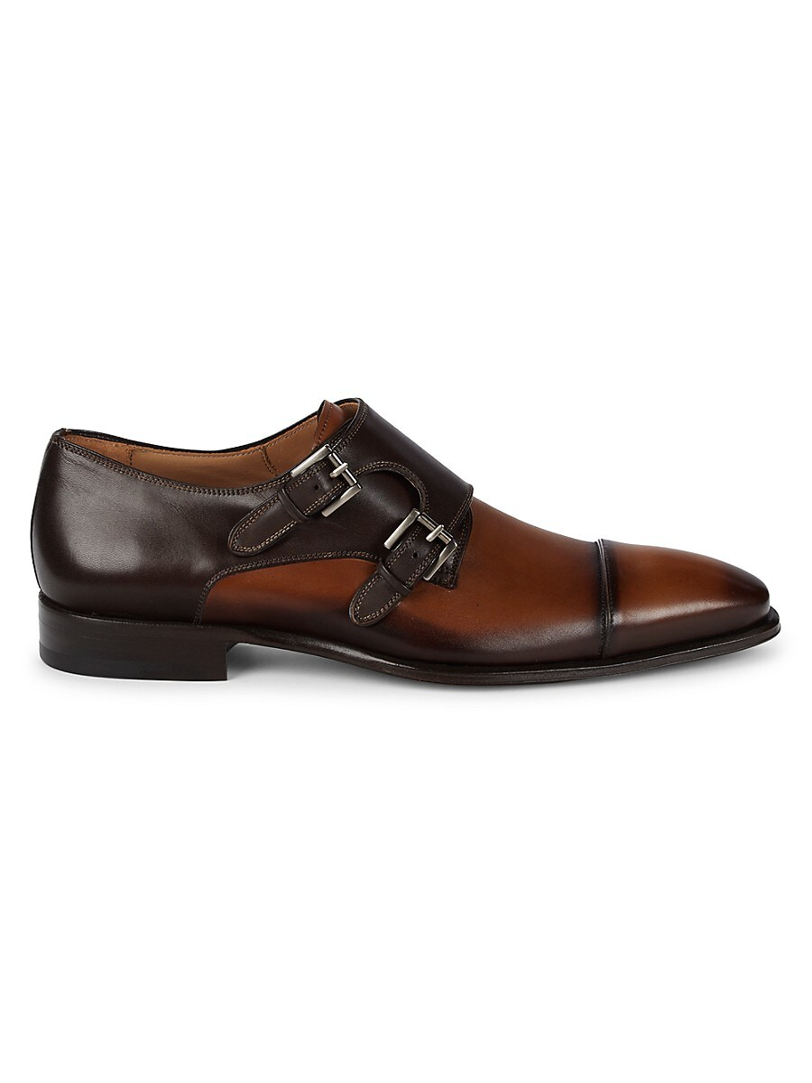 Bardem Leather Double Monk-Strap Shoes