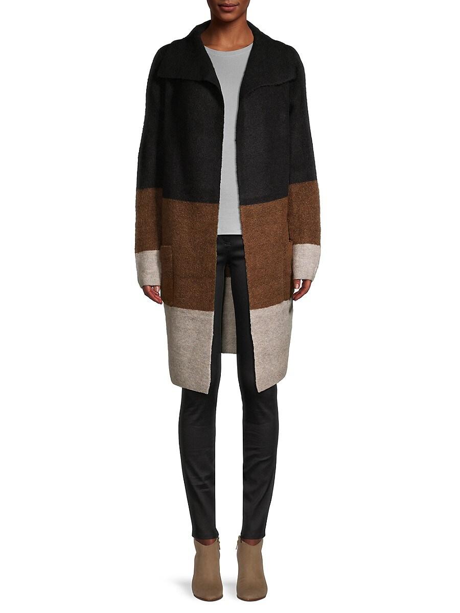 Women's Multicolored Striped Cardigan