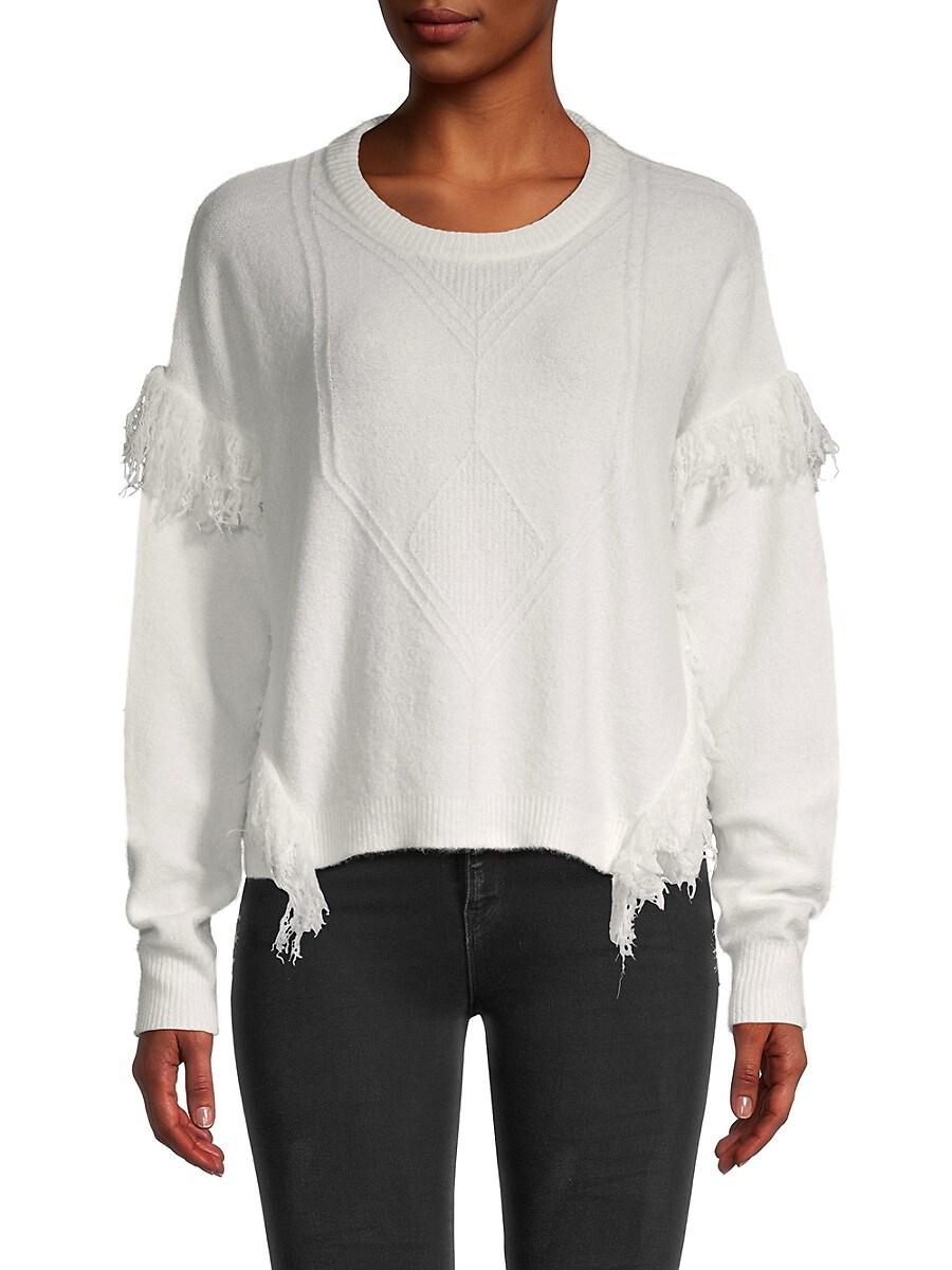 Women's Fringe-Trim Knitted Sweater