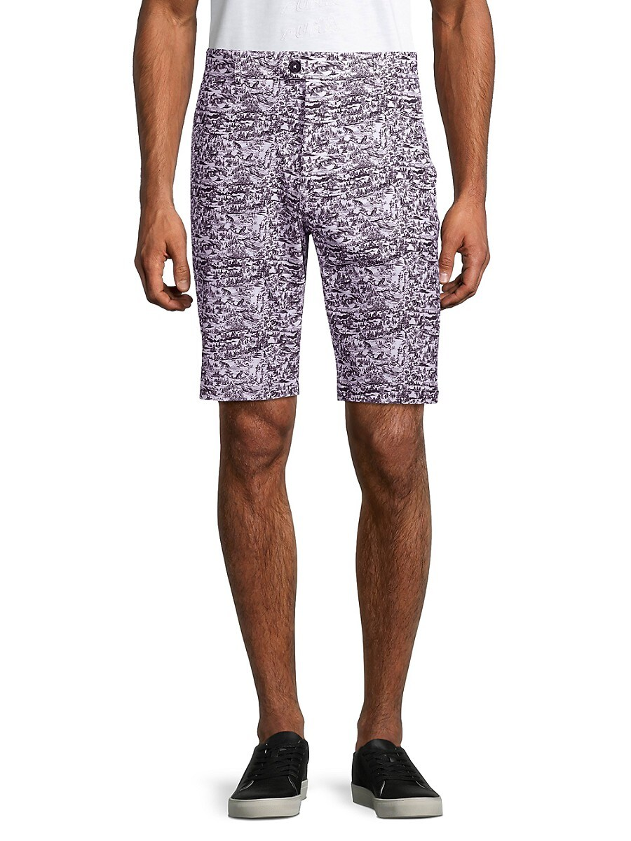 Men's Printed Buttoned Shorts