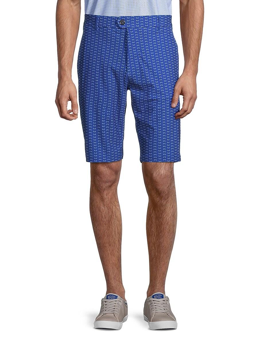 Men's Printed Flat-Front Shorts