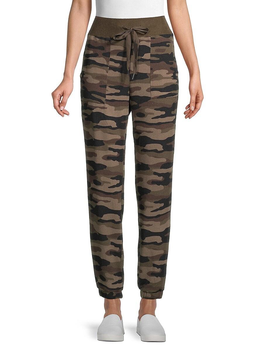 Women's Snow Leopard-Print Knit Pants