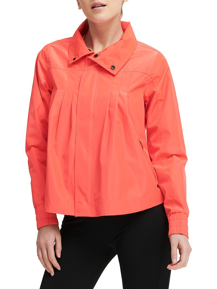 Women's PVC-Trim Swing Bomber Jacket