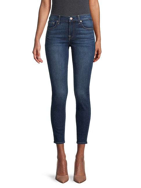 7 For All Mankind GWENEVERE MID-RISE ANKLE SKINNY JEANS
