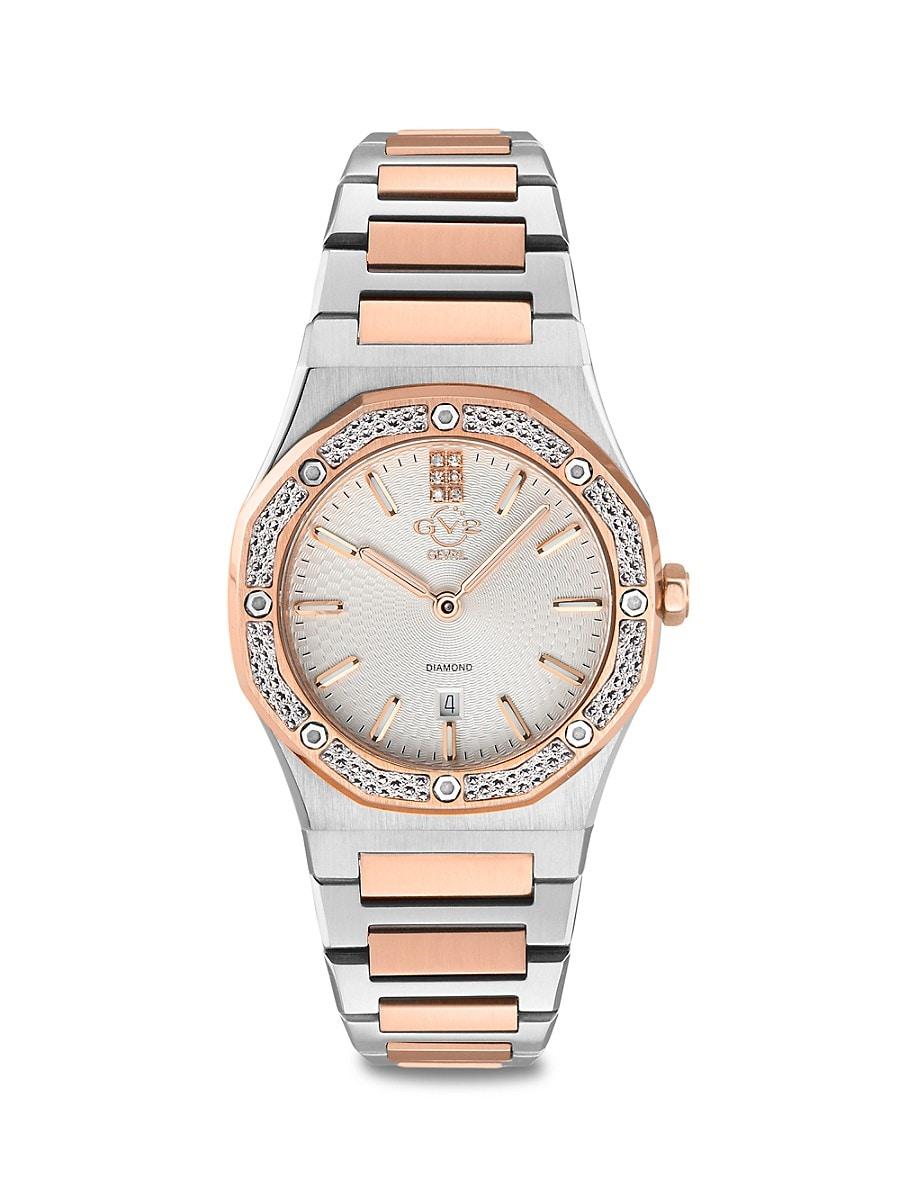 Women's Palmanova Two-Tone Stainless Steel & Diamond Bracelet Watch