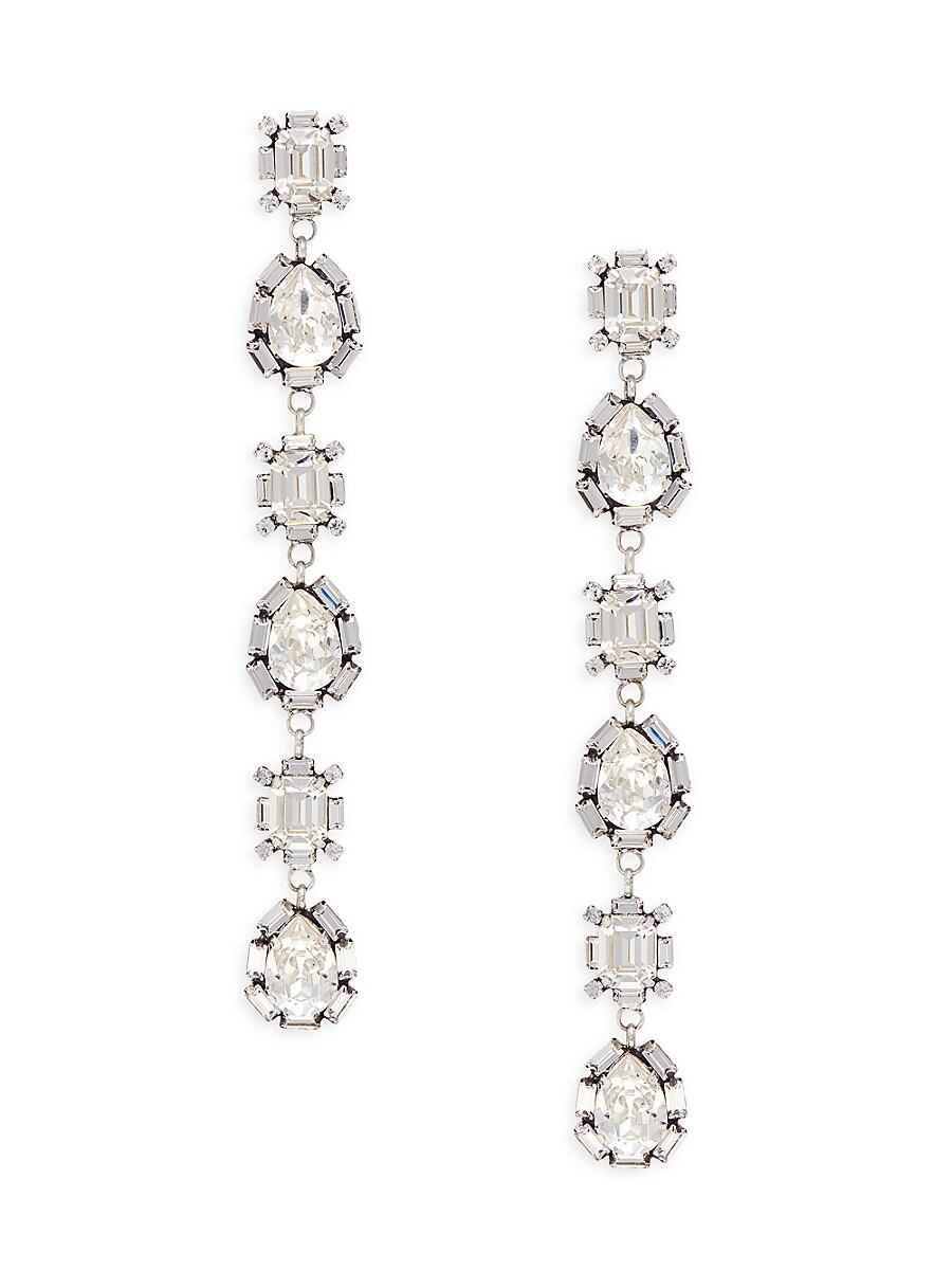 Women's Jodes Silverplated & Glass Crystal Linear Earrings