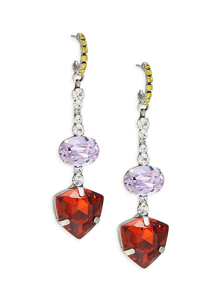 Women's Silverplated & Glass Crystal Dangle Earrings
