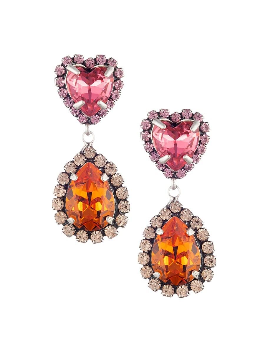 Women's Kate Embellished Heart Teardrop Earrings