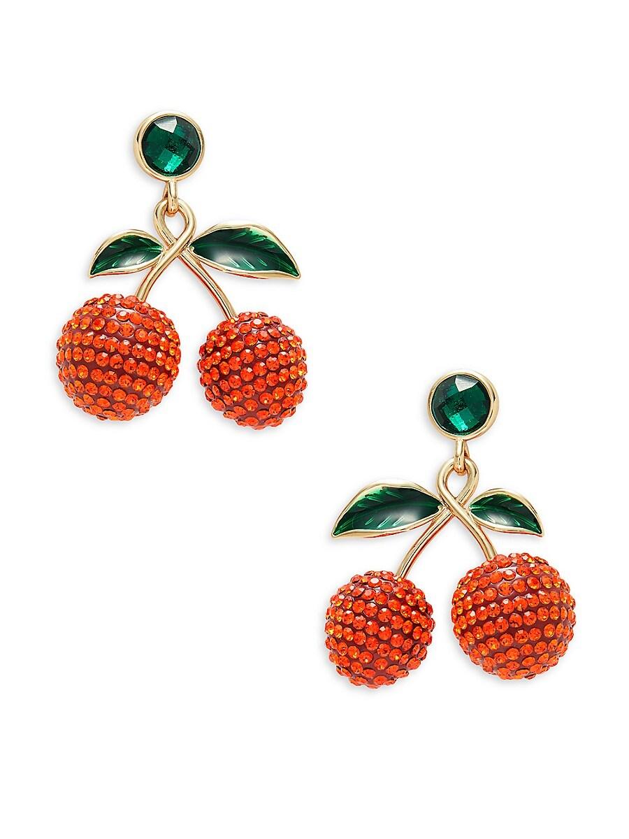 Women's Goldplated & Glass Crystal Cherry Drop Earrings
