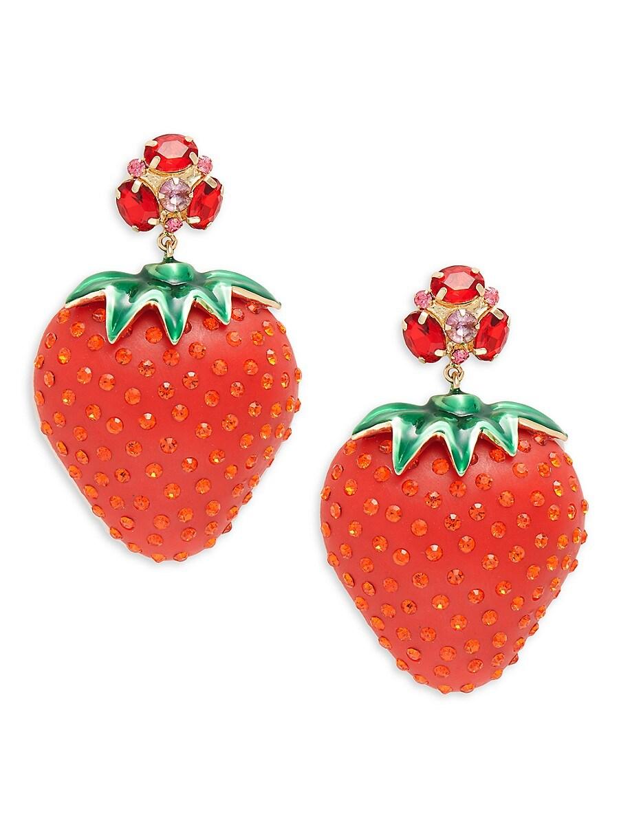 Women's Bari Goldplated Strawberry Drop Earrings