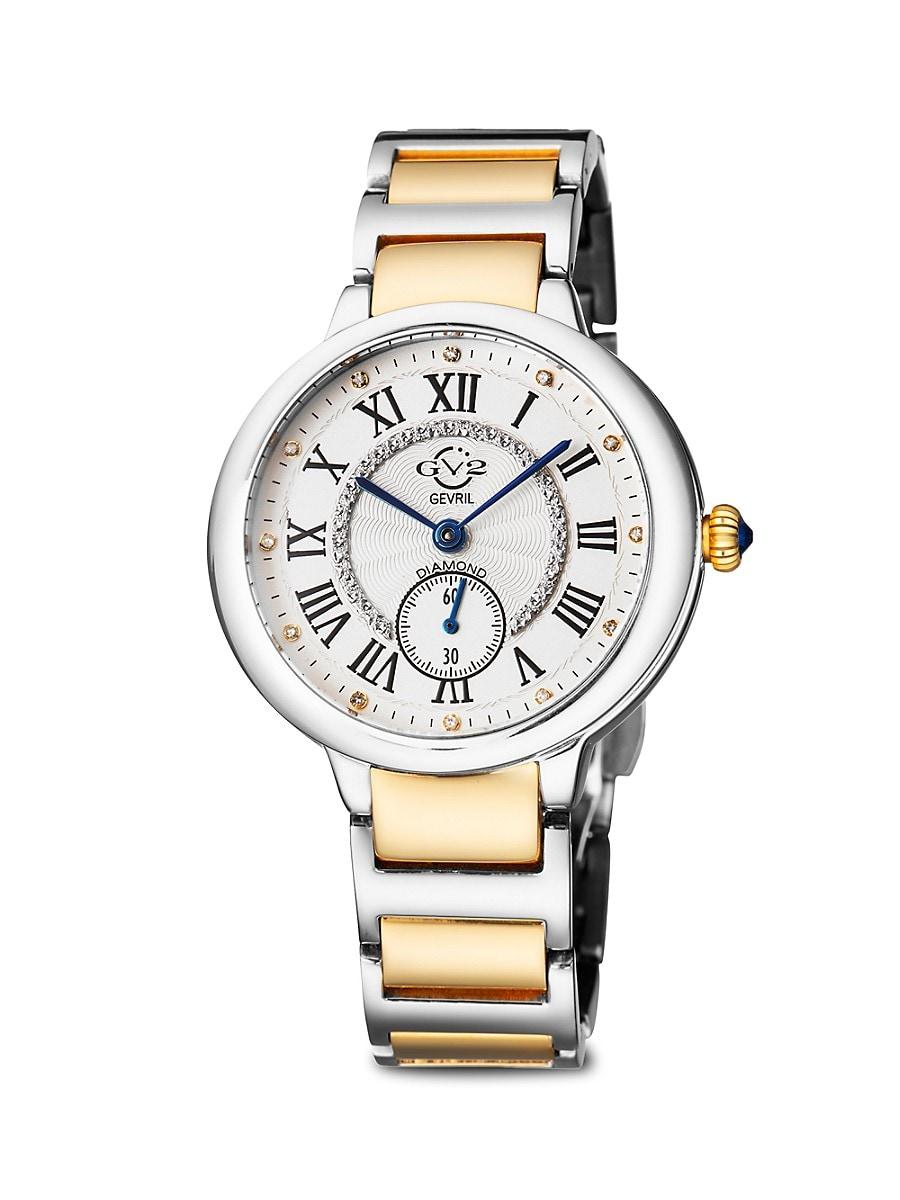 Women's Rome Two-Tone Stainless Steel & Diamond Bracelet Watch