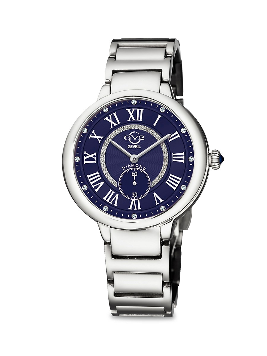Women's Rome Stainless Steel & Diamond Bracelet Watch