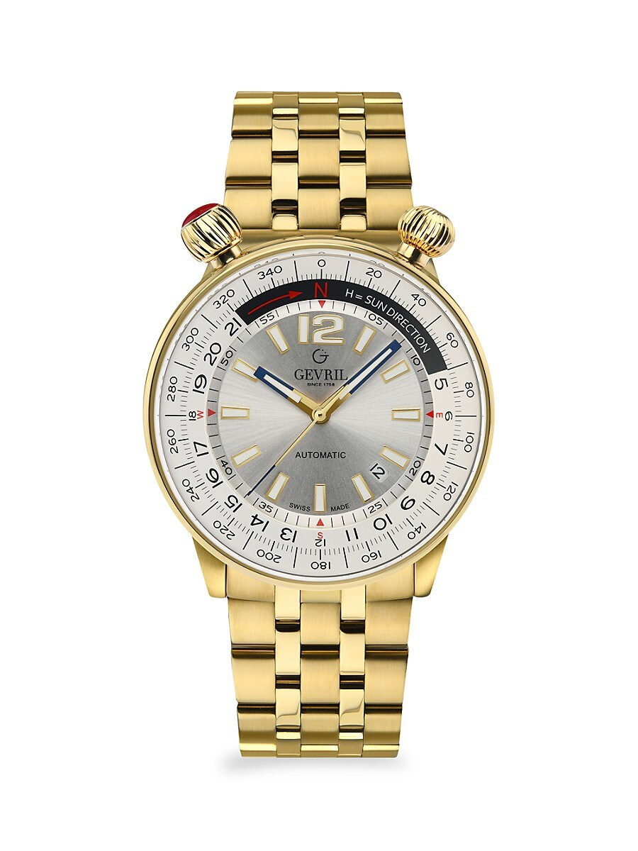 Men's Wallabout Solar Compass Stainless Steel Swiss Automatic Bracelet Watch