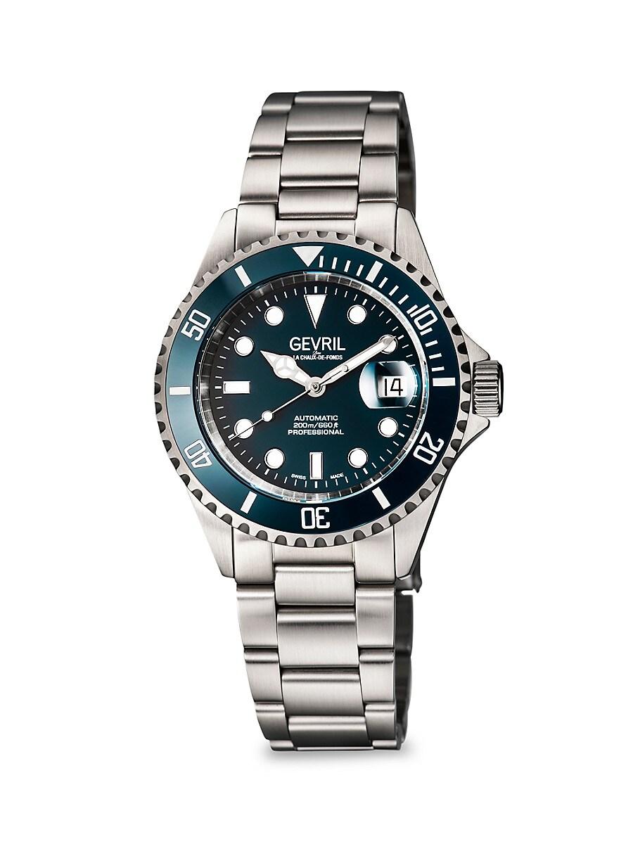 Men's Wall Street Stainless Steel Swiss Automatic Bracelet Watch