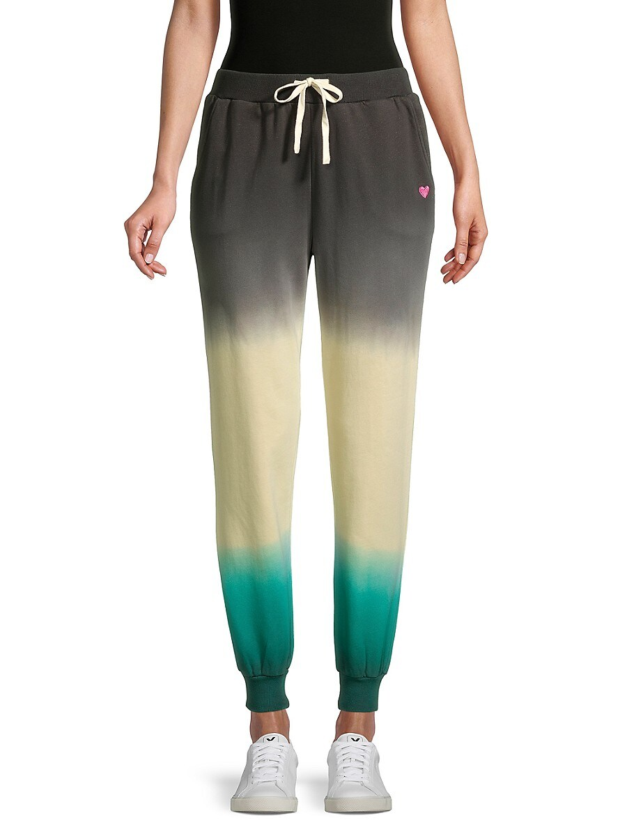 Women's Tie-Dyed Cotton-Blend Drawstring Pants