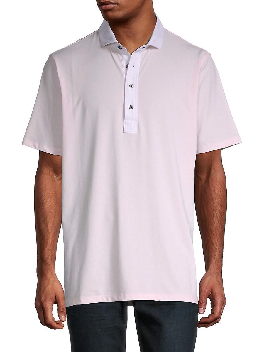 Men's Monochrome High-Low Polo