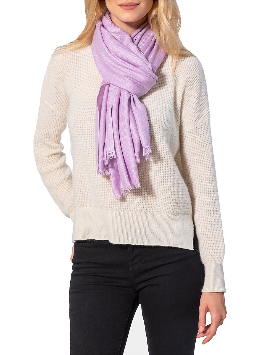 Women's Fringed Cashmere Scarf