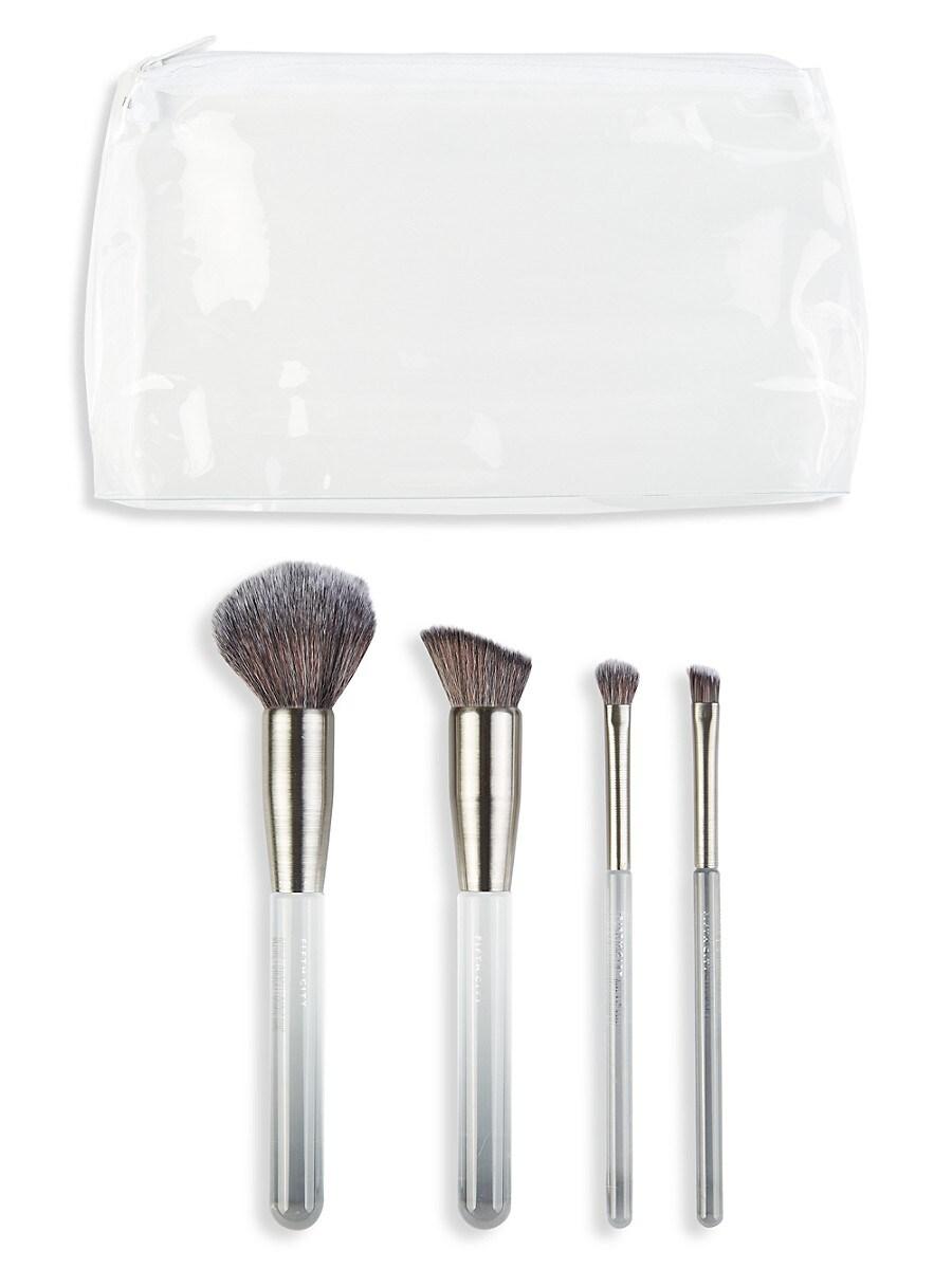 Women's Premium Makeup Brush Basic Bundle 4-Piece set
