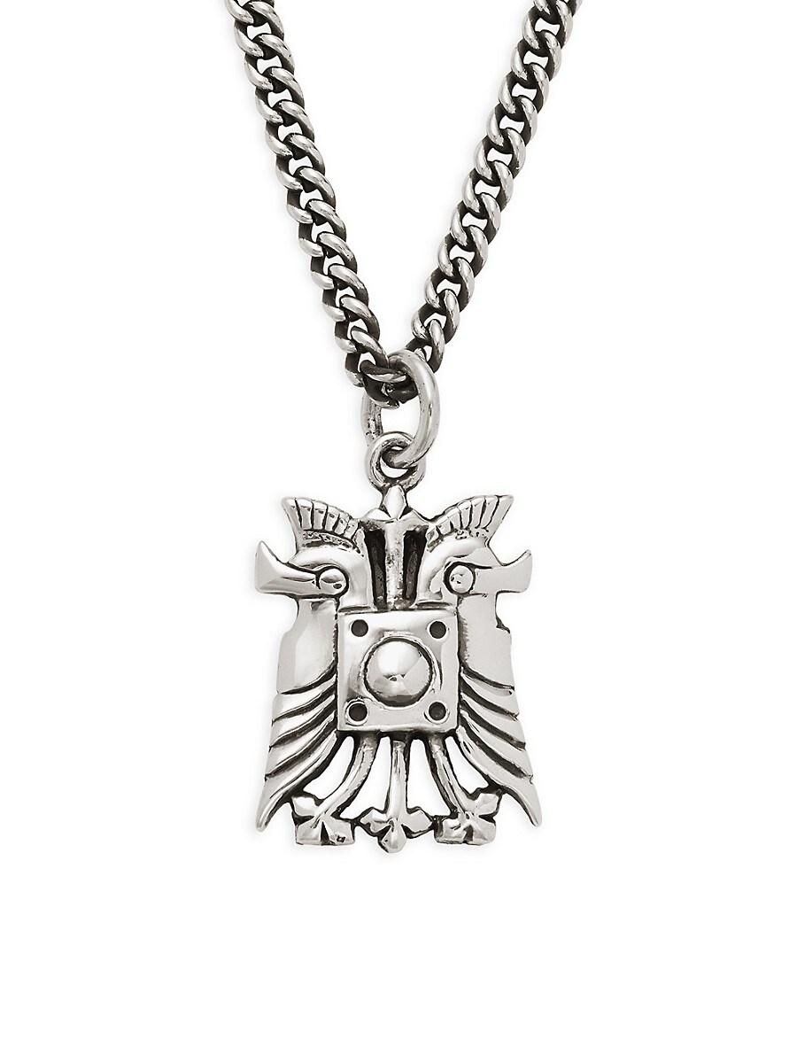 Men's Sterling Silver Spartan Helmet Pendant Necklace