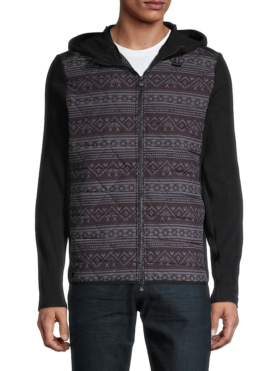 Men's Senesqua-Print Hooded Jacket